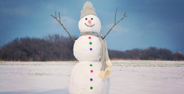 koláž sněhulák